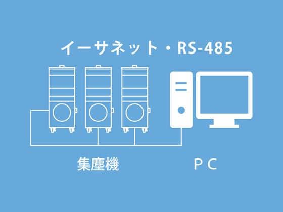 画像:複数の集塵機を集中管理するATパネルのイメージ