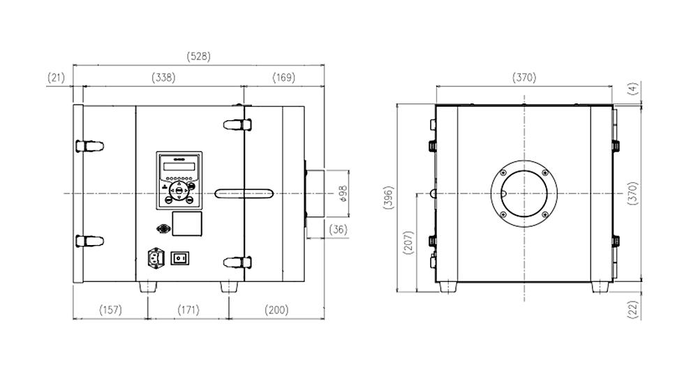 画像:CBA-2000AT3-HI-V1 外形図