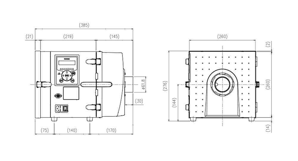 画像:CKU-080AT3-HC 外形図
