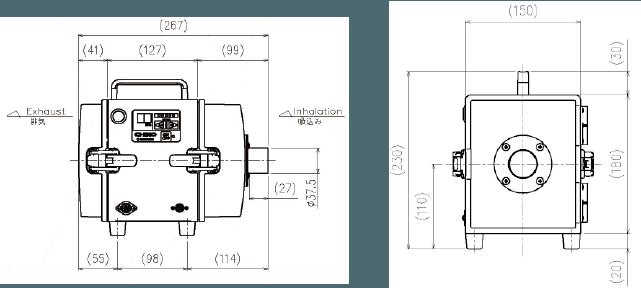 画像:CHV-030AD-HI-V1 外形図
