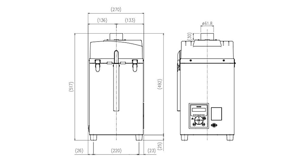 画像:CKU-060AT3-ACC 外形図