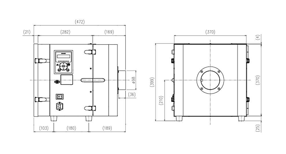 画像:CKU-450AT3-HC 外形図