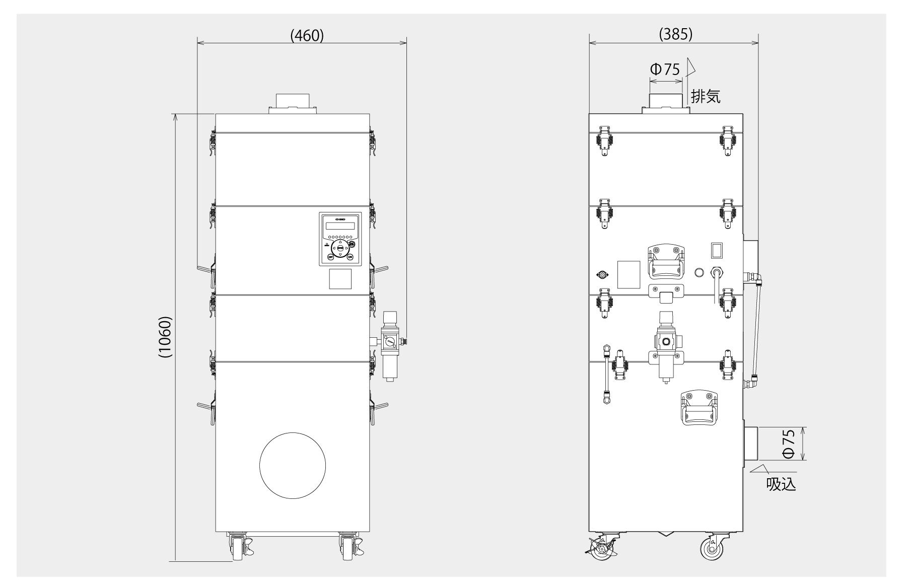 画像: CBD-1000AT3-DSA-J 外形図