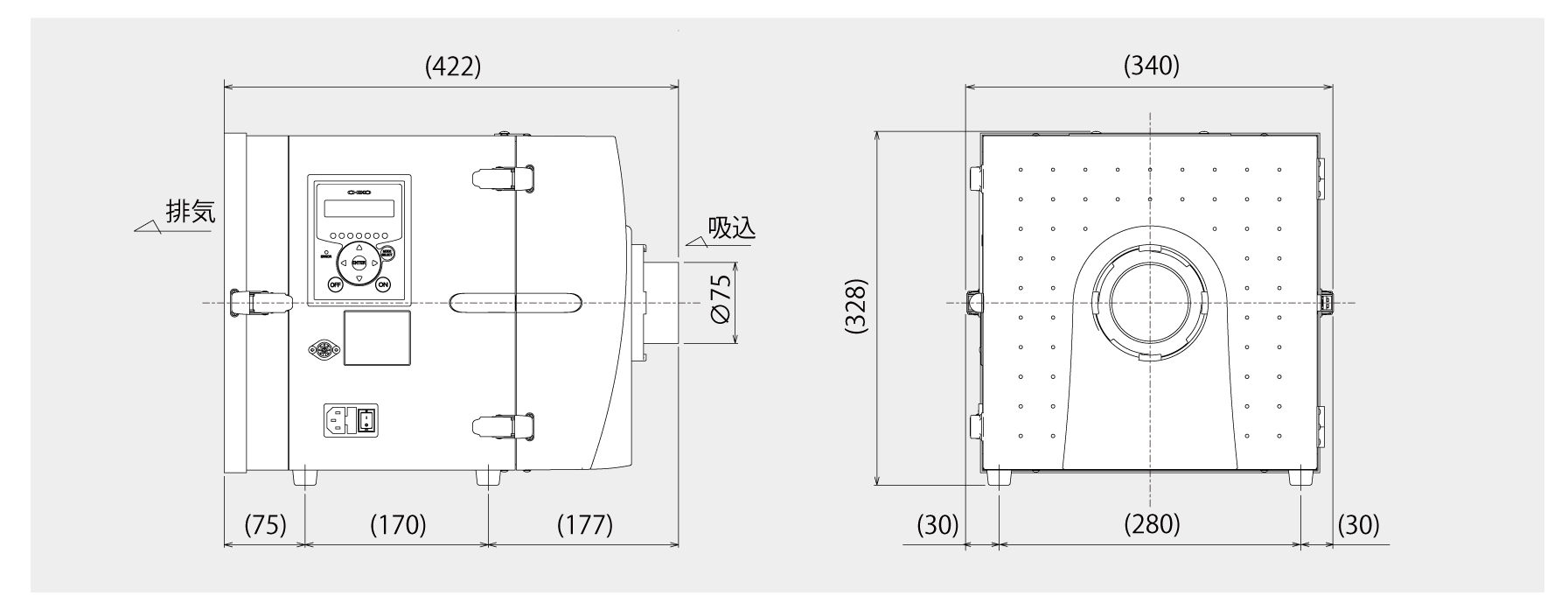 画像:CKU-240AT3-HC 外形図