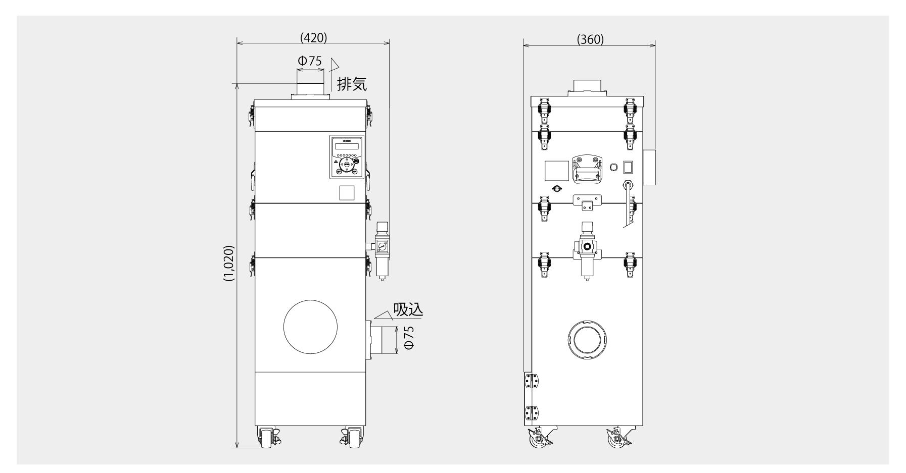 画像:SHP-1000AT3 外形図