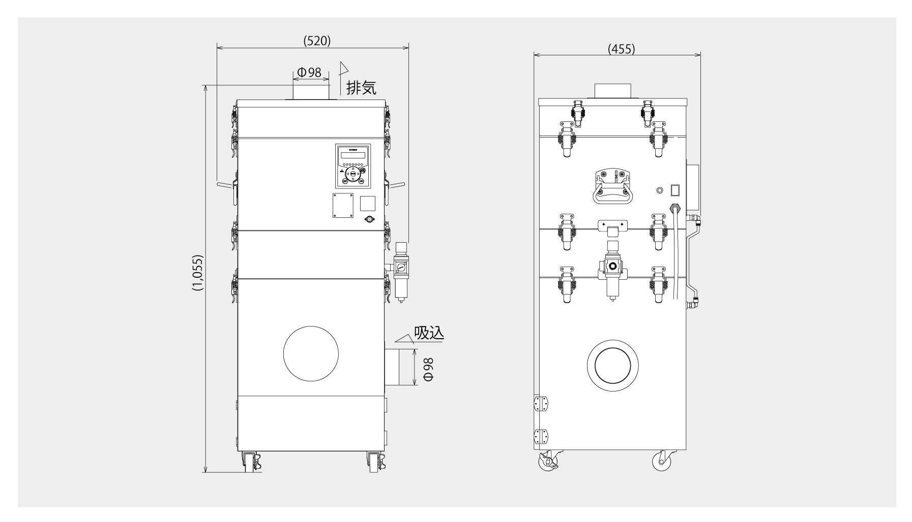 画像:SHP-1600AT3 外形図