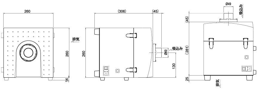 画像:CKU-050-SP 外形図