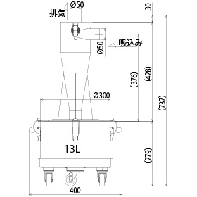 画像:SCC-150-13-SUS 外形図