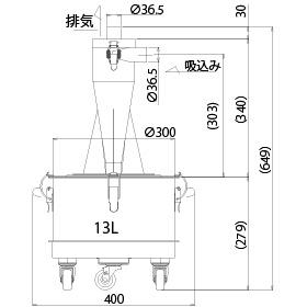 画像:SCC-60-13-SUS 外形図