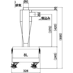 画像:SCC-150-8 外形図