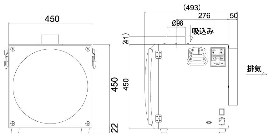 画像:SK-450AT-HI 外形図