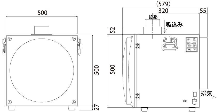 画像:SK-750AT-PM 外形図