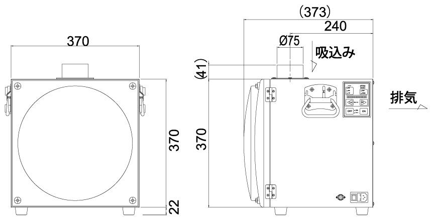画像:SK-250AT 外形図