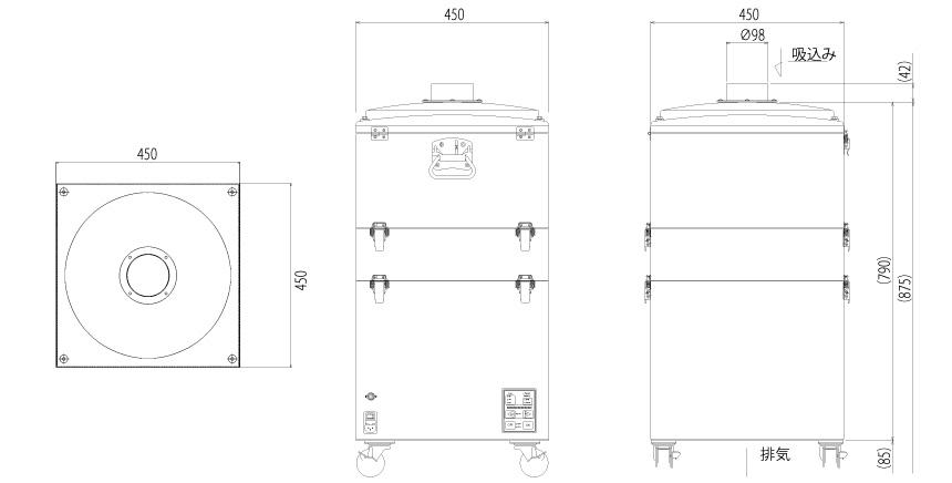 画像:SKV-450AT-ACC 外形図