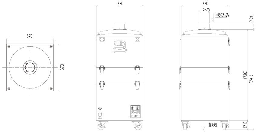 画像:SKV-250AT-ACC 外形図