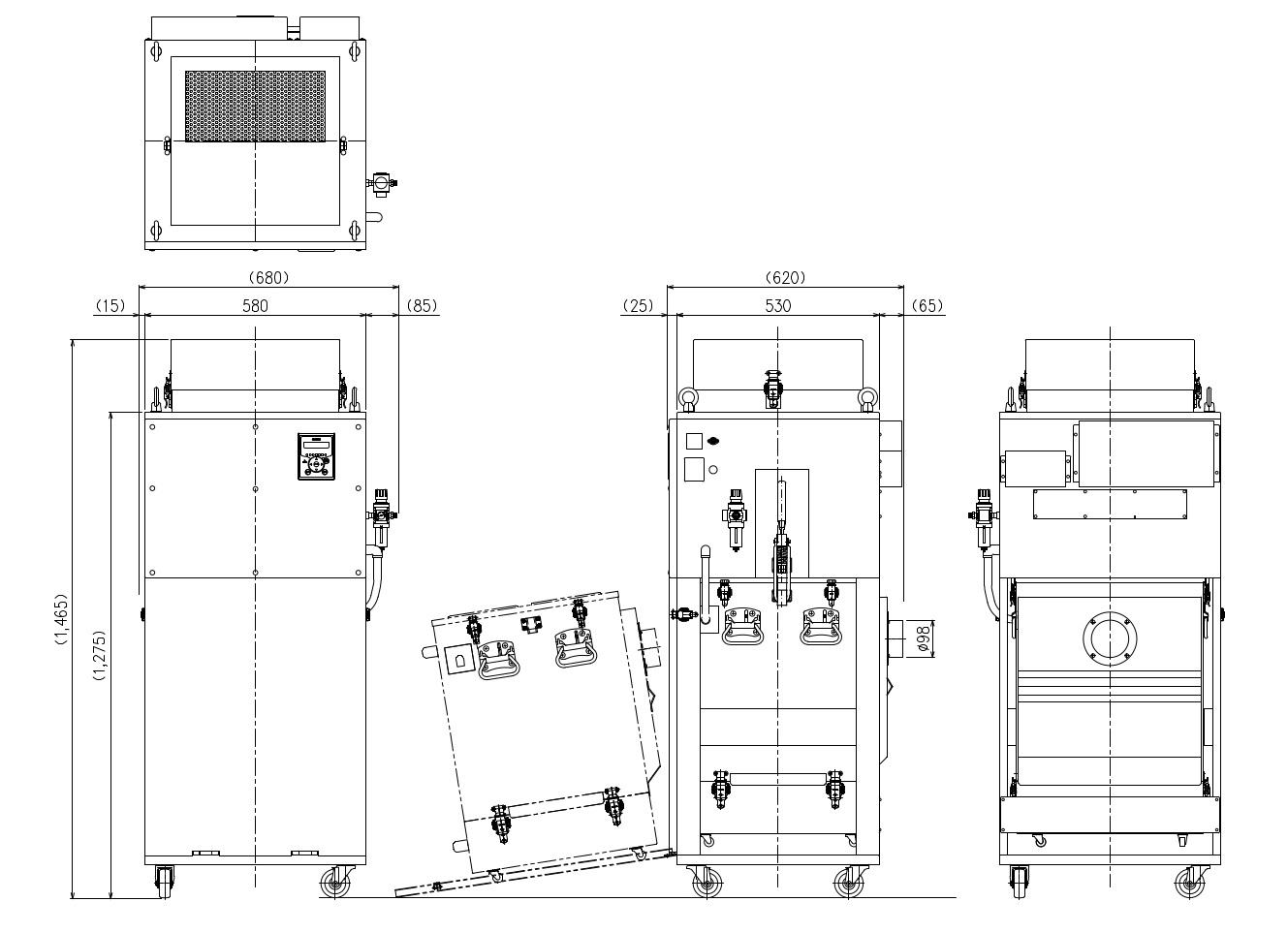 画像:CHP-1600AT3 外形図