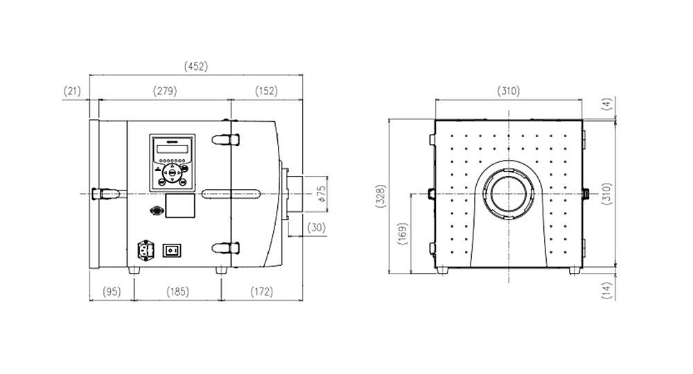 画像:CBA-500AT3-HI 外形図