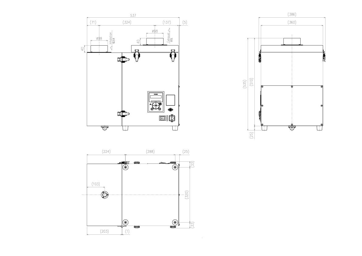 画像:CBA-1500AT3-HC-DSA-V1 外形図