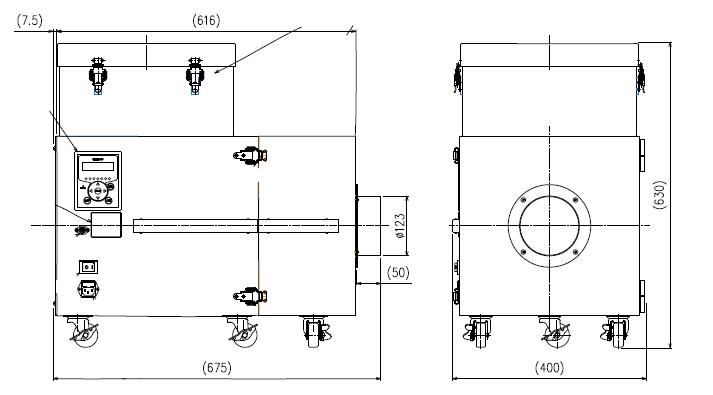 【外形図】CKU-750AT3-HC
